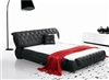 Black Montecito Leather Bed CP-B1107