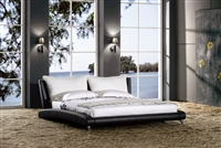 Tempo Modern Platform Bed with Pillowtop Headrest CP-B1111