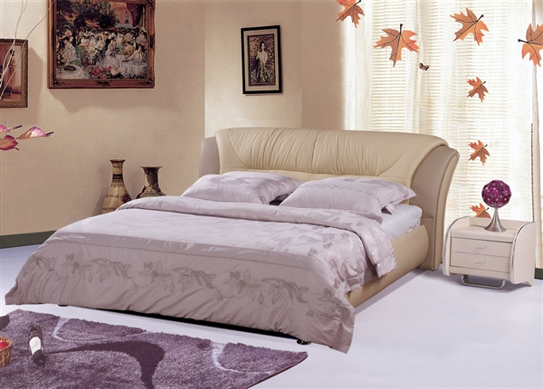 Contemporary Mauve Padded Bed CP-B1163