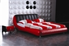 Extreme Red Leather Bed CP-B1171