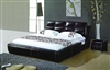 Sharp Black Leather Etriende Bed CP-B1176