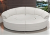 Modern Circle Sectional Sofa Set with Table - White TOS-LF-6722-WHITE
