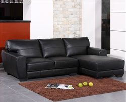 Modern Black Bonded Leather Sectional Sofa TOS-BVT-B2165