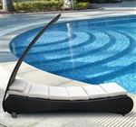 Modern Outdoor Chaise Lounge with Canopy TOS-GW3087-L1
