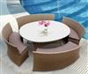 5pcs Brown Outdoor Dining Set TOS-GW3103SET