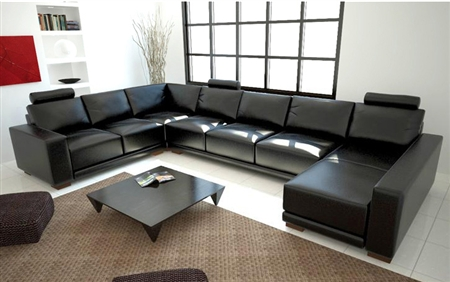 Modern Black Sectional Sofa TOS-LF-1001