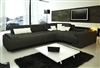 Franco Collection Modern Sectional Sofa - Black TOS-LF-1007-BLACK