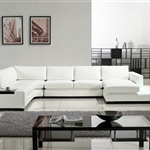 Modern White Leather Sectional Sofa TOS-LF-2029