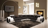 Italian Design Franco Sectional Sofa TOS-LF-4087-BW