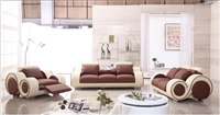 Modern Brown and Cream Sofa Set LF-4088-CB