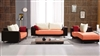 Contemporary White Orange Black Fabric Sofa Set TOS-LF-8522
