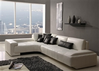 Franco Collection Modern Sectional Sofa - White TOS-RF-1007-WHITE