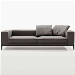 Modern Grey Fabric Loveseat TOS-TIK-1814