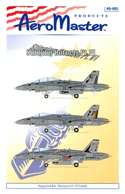 AeroMaster #48-485 1/48 F/A-18 Stinging Hornets Pt VI Decal Sheet