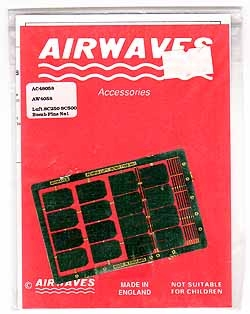 Airwaves #48058 1/48 Luft. SC250 SC500 Bomb Fins No.1 Photo Etch Set