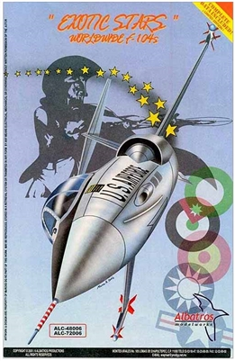 Albatros Modelworks 72006 1/72 Exotic Stars Worldwide F-104s Decal Sheets