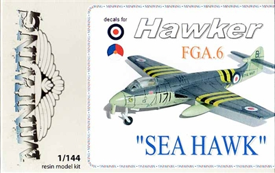 Miniwing #MW063 1/144 Hawker Sea Hawk FGA.6