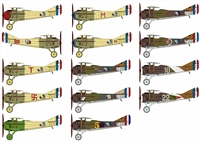 Pheon Decals #32001 1/32 SPAD VIIs of the Esc. Lafayette, SPA124 & 103rd Aero Squadron Decal Sheet