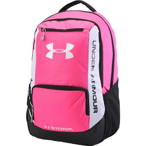 under armour hustle backpack pink