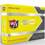 Wilson Staff Fifty Elite Yellow Golf Balls - 1 Dozen