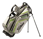 Titleist 14-Way Stand Golf Bag - Dark Gray/Light Gray/Lime