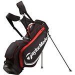 TaylorMade TM Custom Stand 4.0 Golf Bag - Black/Red/White