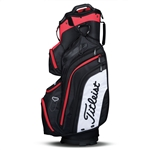 Titleist Deluxe Cart Golf Bag - Black/Red/White