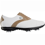 Footjoy Tailored Collection Women's Golf Shoes 91655 - White/Cream Croc