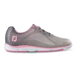 Footjoy emPOWER Women's Golf Shoes 98000 - Gray/Pink Trim