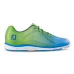 Footjoy emPOWER Women's Golf Shoes 98001 - Lime Green/Lt Blue