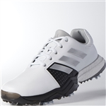 Adidas Adipower Boost 3 Men's Golf Shoes - White/Silver/Black