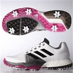 Adidas Adipower Boost 3 Men's Golf Shoes - White/Black/Pink