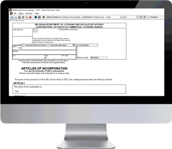 Michigan Business Forms Software