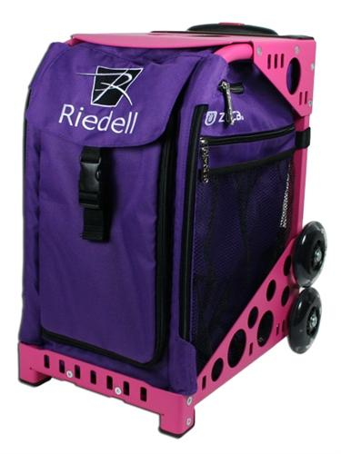 Riedell ZUCA Skates Bag w/Wheels - Purple/Pink Frame