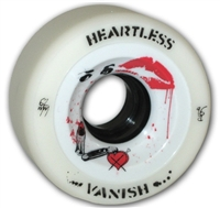 Heartless Derby Skate Wheels Vanish White - 62mm x 34mm x 96a SET OF FOUR