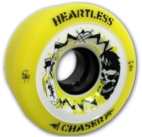 Heartless Derby Skate Wheels Chaser Yellow - 62mm x 34mm x 92a SET OF FOUR