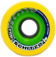 B'Zerk Derby Skate Wheels Schitzo Yellow - 62mm x 44mm x 94a set of 4