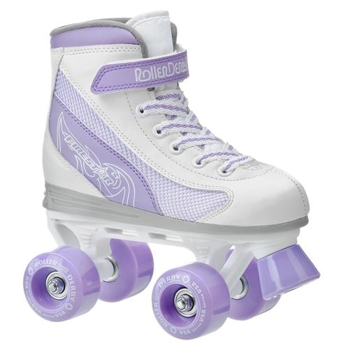Roller Derby Firestar White with Purple Wheels