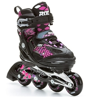 Roces Moody 4.0 Kids Inline Skates Girls - Black Pink