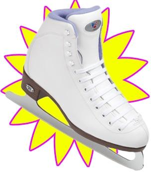 Riedell Ice Skates 13 Girls Deluxe Pack