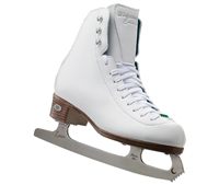 Riedell 19 White Medium Ice Skates with Luna Blades