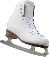 Riedell 119 White Wide Ice Skates with Luna Blades