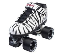 Riedell Dart Speed Roller Skates Zebra Stripes