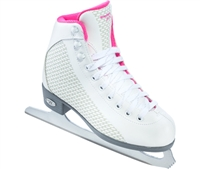 Riedell 13 Girls' Sparkle Pink Ice Skates