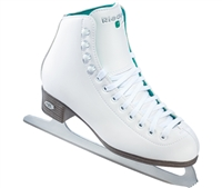 Riedell 10 Girls' Junior Opal White Ice Skates