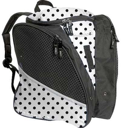 Transpack Ice Skate Bag Print - White/Black Dot