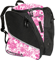 Transpack Ice Skate Bag Pink Snowflake