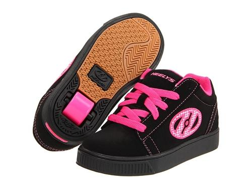 Heelys Straight Up Skate Shoes 7676 - Black/Fuschia