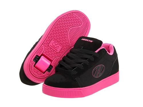 Heelys Straight Up Skate Shoes 7710- Black/Hot Pink