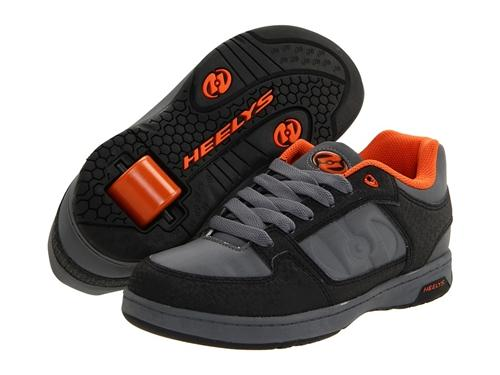 Heelys Double Threat Skate Shoes 7749 - Black/Gray/Orange